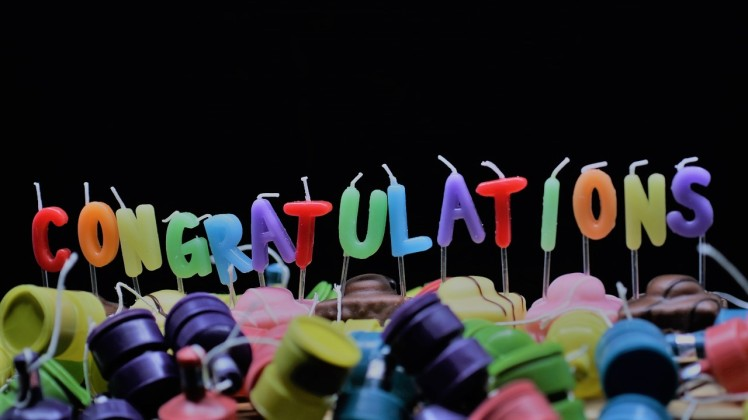 congratulations candles