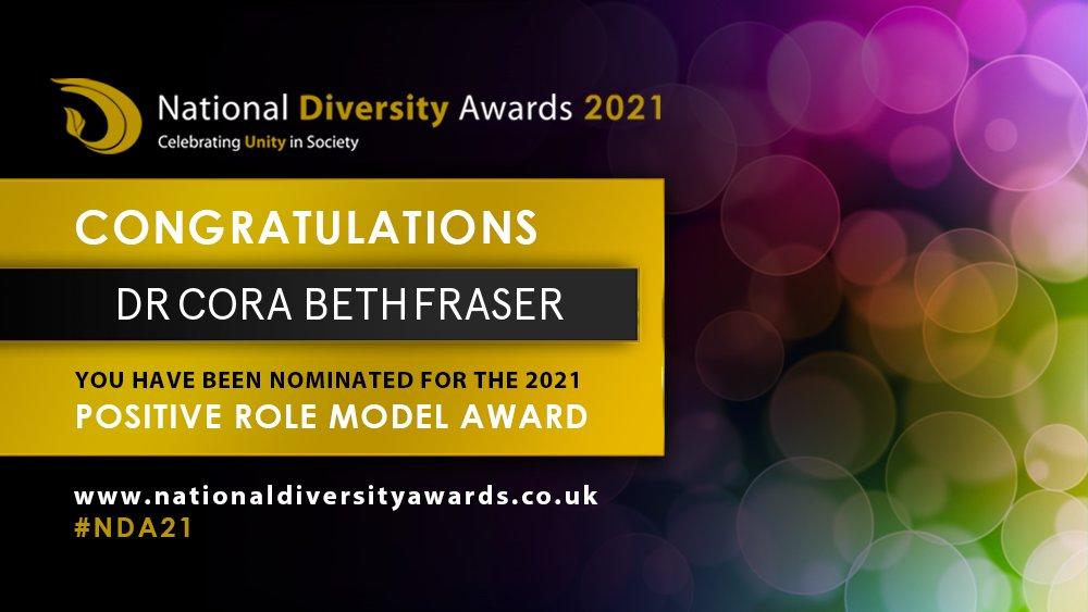 National Diversity Awards 2021 nomination